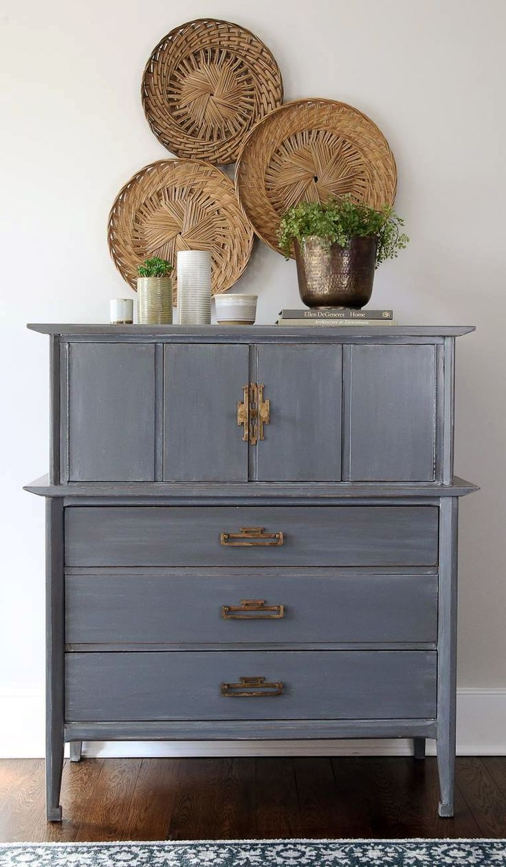 Distressed And Glazed Driftwood Dresser. Furniture MakeoverFurniture IdeasGray  Painted ...