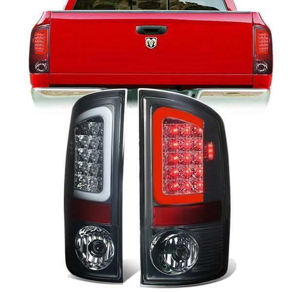 07 09 Dodge Ram 1500 2500 3500 Led C Bar Rear Brake Tail Lights Smoked Tail Light Ram 1500 Bar Led