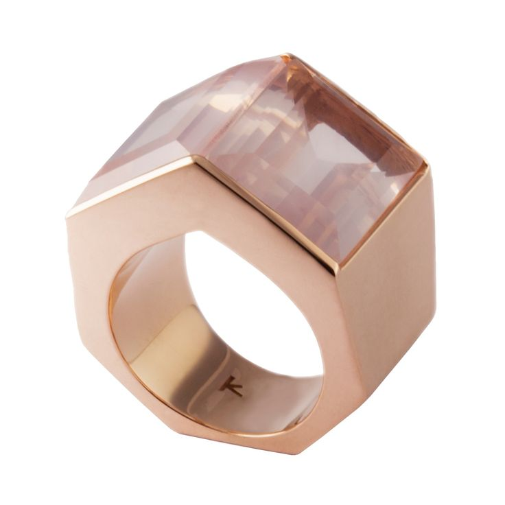 Polygon Ring Tall in Rose Gold   Kattri   Wolf & Badger