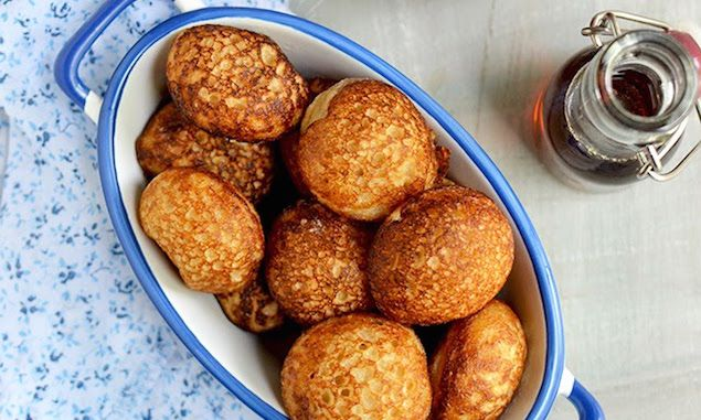 A slightly sweet cake or bread, mofo gasy is served as a breakfast street food with coffee in Madagascar. Think of it like a pancake.