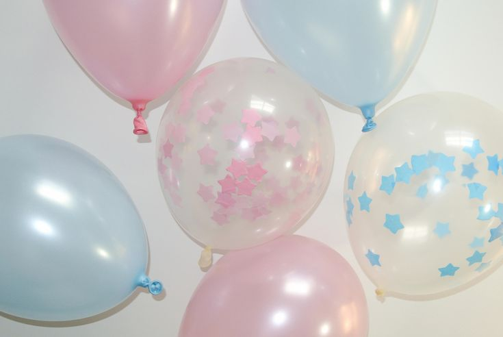 Confetti Balloon Star. 12 inch. Pink and Blue. Twinkle Twinkle Little Star Decor. Twinkle Twinkle Little Star Baby Shower. Boy or Girl by PaperRabbit87 on Etsy