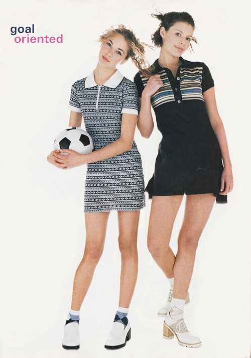 'Need one easy piece? The little polo dress is definitely a winner.' (1995) #Seventeen