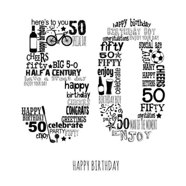 Ad3283a 50th male black happy 50th birthday 50th
