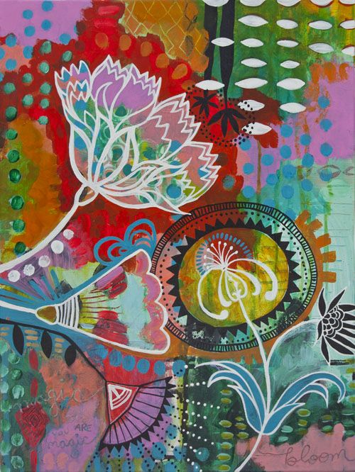 """new painting """"Bloom, You Are Magic"""" // by Jessica Swift"""