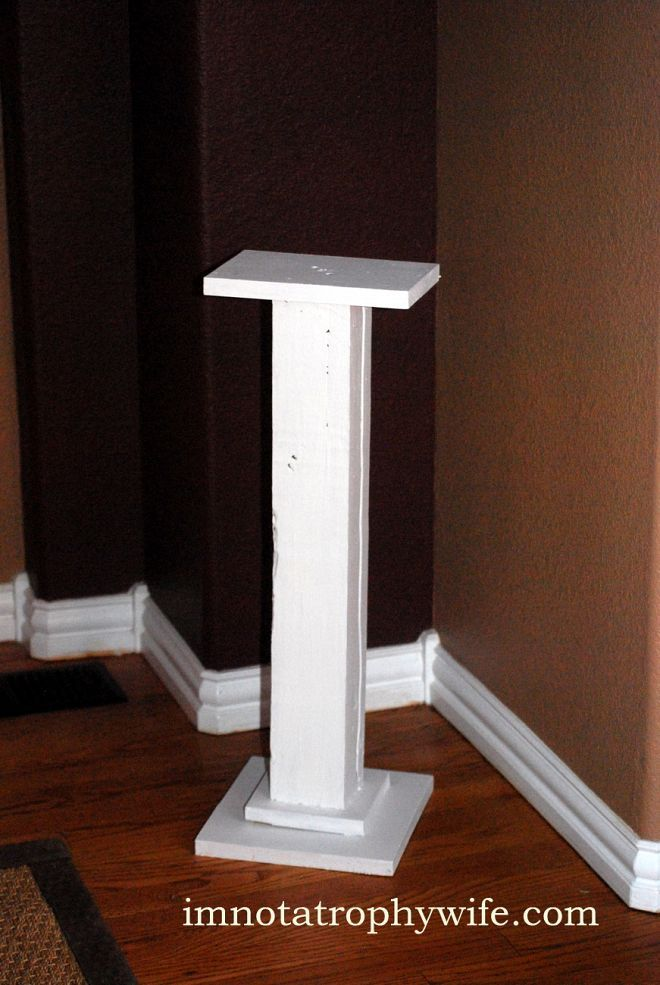 Diy Wooden Stands ~ Diy plant stand from scrap wood under