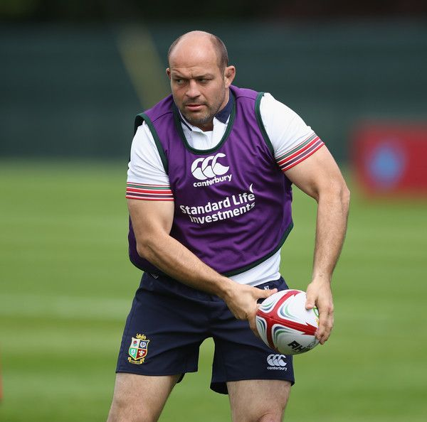 Rory Best Photos Photos - Rory Best passes the ball during the British and Irish Lions training session held at Carton House Golf Club on May 22, 2017 in Maynooth, Ireland. - British and Irish Lions Squad Training and Press Conference