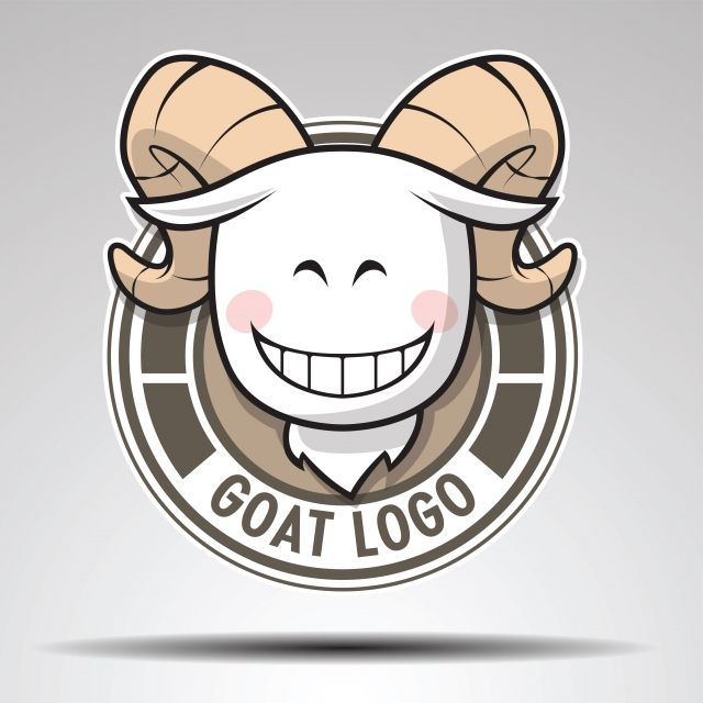 Head Of Goat On Circle Logo Design Goat Head Cartoon Png And Vector With Transparent Background For Free Download Goat Logo Circle Logo Design Logo Design