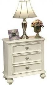 Acme 30009 Athena Transitional Kids 3 Drawers White Night Stand