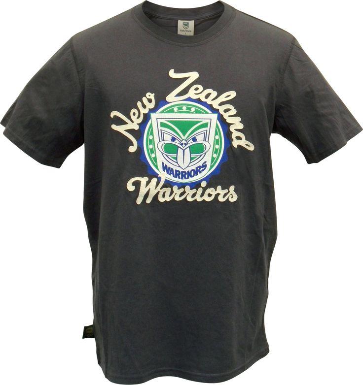 2014 Vodafone Warriors Vintage Grey Tee #WarriorsGear #WarriorsForever #NRL #Tee #Tshirt #Retro Go to www.warriorsstore.co.nz