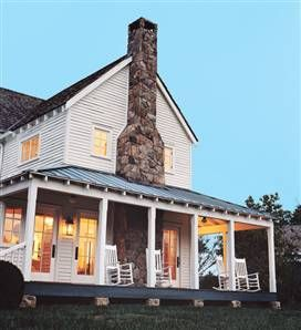 One day I would LOVE to restore a Old Farmhouse. But its gotta have a wrap around porch, 2+3 story w/ shutters, a big yard with a long driveway & tons of animals, oh and a white picket fence. And on the wrap around porch, rockin chairs for me and my husband of 50+ years!