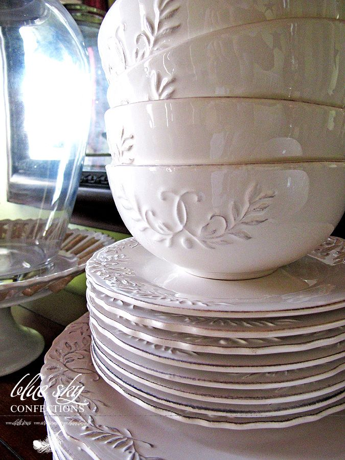 rustic dinnerware sets clearance | Blue Sky Confections: August 2011