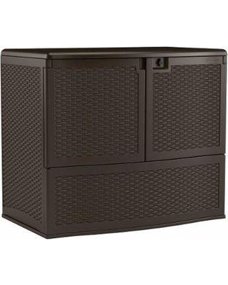 Suncast Suncast Sheds & Storage Backyard Oasis 195 Gal. Vertical Deck Box Java VDB19500J from HomeDepot.com | BHG.com Shop