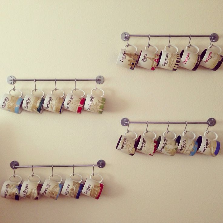 Starbucks City Mugs - towel hanger
