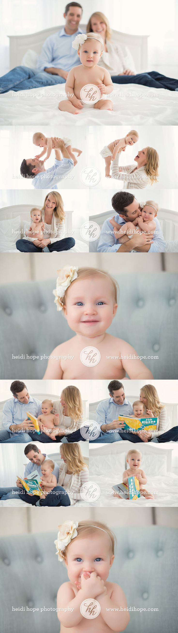 6 month old baby girl session by heidi hope photography