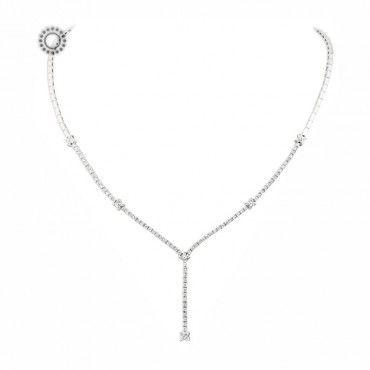 Κομψό και διαχρονικό πολυτελές 18 καρατίων κολιέ γραβάτα για γυναίκες με διαμάντια που φοριέται και καθημερινά | Κόσμημα ΤΣΑΛΔΑΡΗΣ στο Χαλάνδρι #γραβατα #διαμαντια #λευκοχρυσο #κολιε