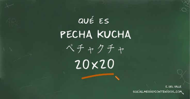 Pecha Kucha (PechaKucha) es un formato de presentación 20x20 que se está imponiendo en todo el mundo. Descubre cómo se hace.