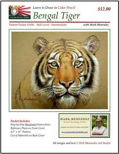 Renkli Kalem Beraberlik için öğrenin: Bengal Kaplanı | NorthLightShop.com