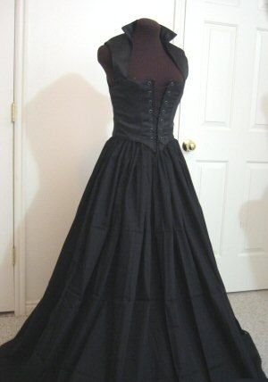 Black Renaissance Bodice and Skirt Dress or Costume Set   6 Sizes Available READY TO SHIP. $85.00, via Etsy.