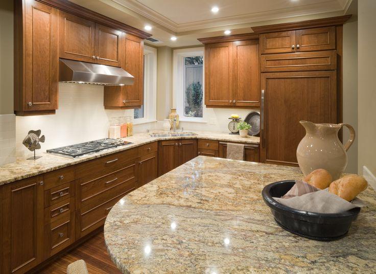 Honey Oak Kitchen Cabinets With Laminate Countertops Top Kitchen Interior Design