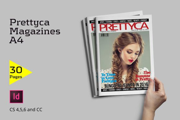 Prettyca Magazines by Firtana on @creativemarket