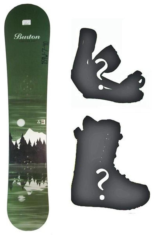 145cm Burton Cruzer Lake Green Used Snowboard, Build a Package with Boots and Bindings
