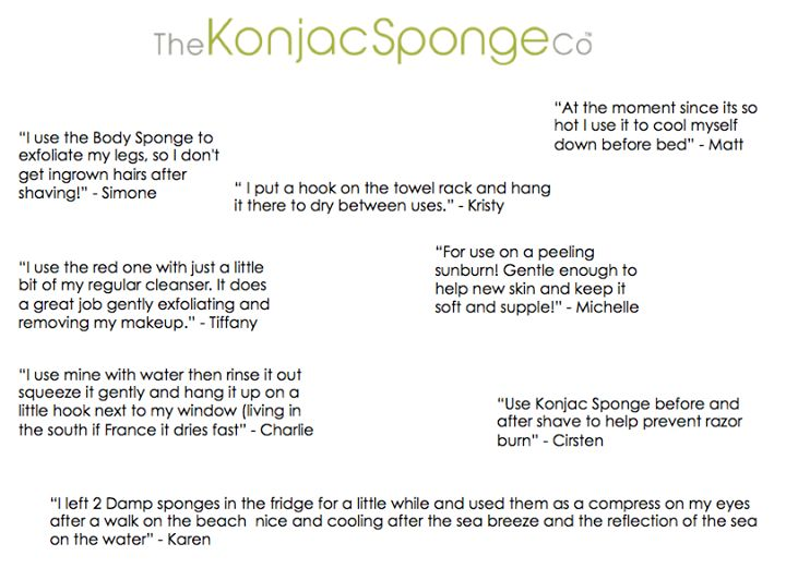 """Some awesome tips and tricks from """"Konjac Sponge Lovers""""... #beauty #skincare Both the body and facial sponges are available online www.allurecosmetics.co.za/allure #onlineshopping"""