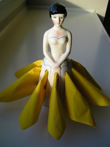 Porcelin Lady Napkin Holder | eBay