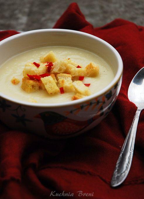 zupa krem z kalafiora i pora