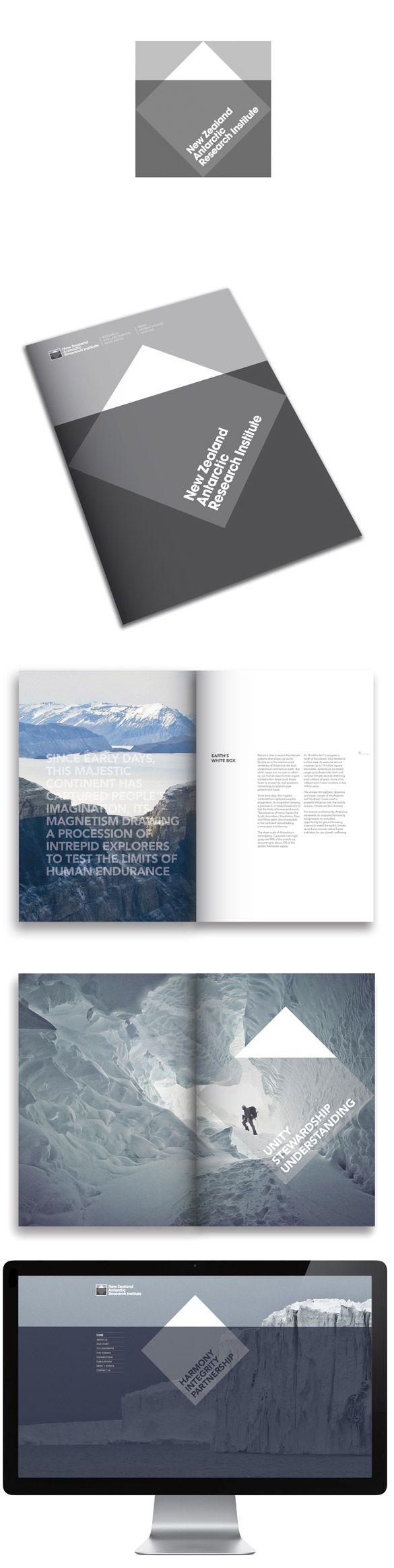 Graphisme & interactivité blog par Geoffrey Dorne » La nouvelle identité visuelle du New Zealand Antarctic Research Institute !