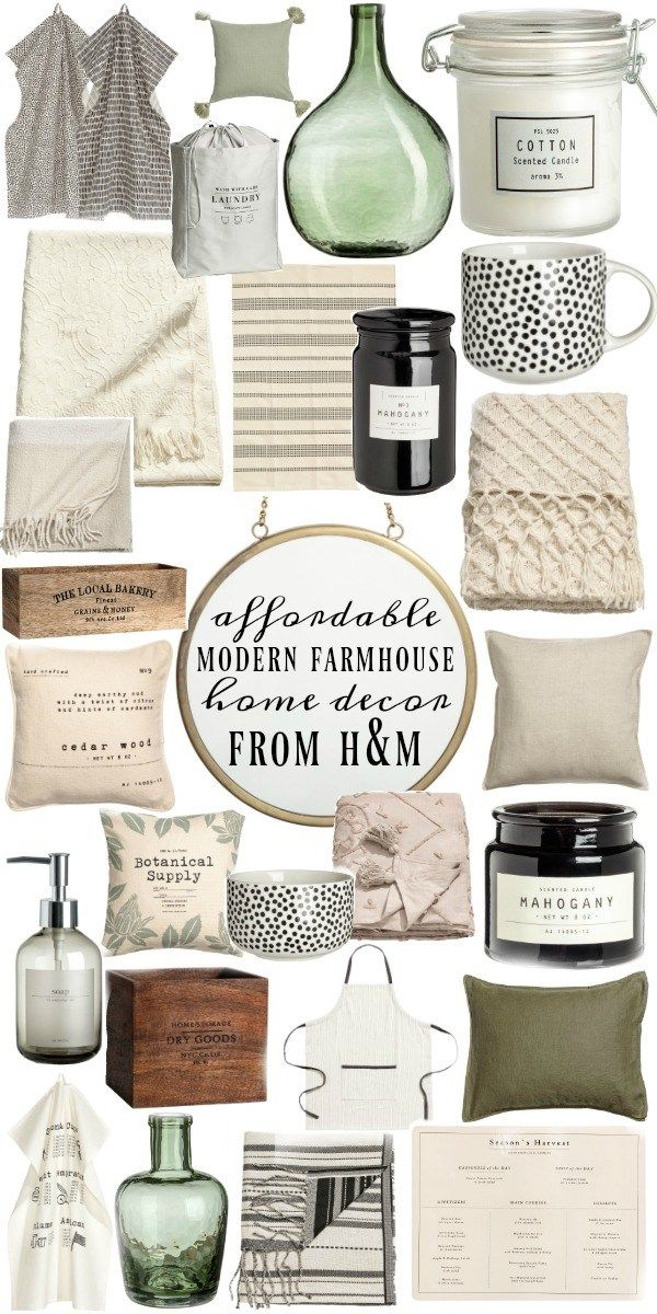 Affordable Modern Farmhouse Decor | objets deco campagne | Deco ...