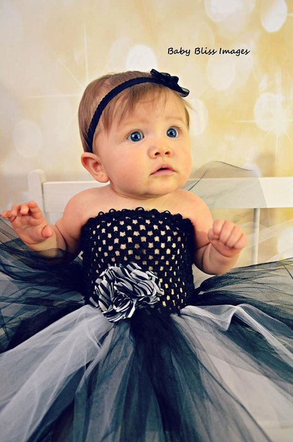 Black and White Zebra Cake Smash Tutu Dress