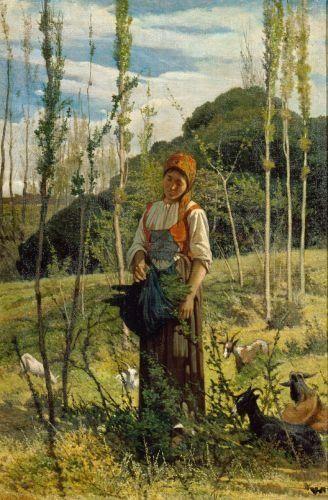 The Goatherd~ Giovanni Fattori