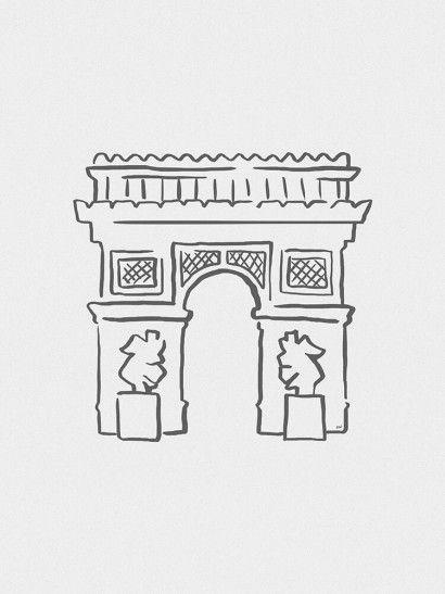 Arco do Triunfo Minimalista - On The Wall | Crie seu quadro com essa imagem https://www.onthewall.com.br/design-by-on-the-wall/minimalista/arco-do-triunfo-minimalista #quadro #canvas #moldura #frança #paris #arcodotriunfo #minimalista