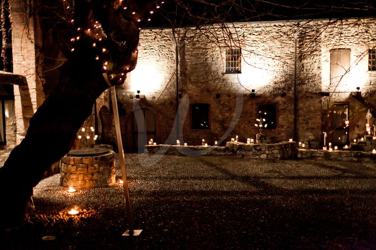 Wedding lanterns at Castello di Pomerio