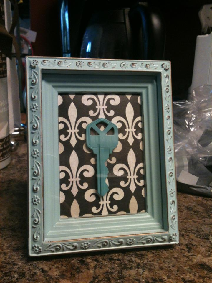 cheap frame scrapbook paper painted key beautiful