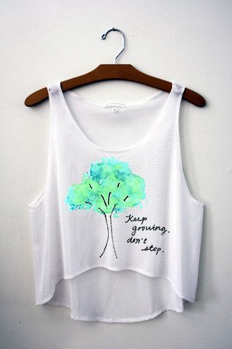 Keep Growing. Don't Stop. Crop Top – Hipster Tops