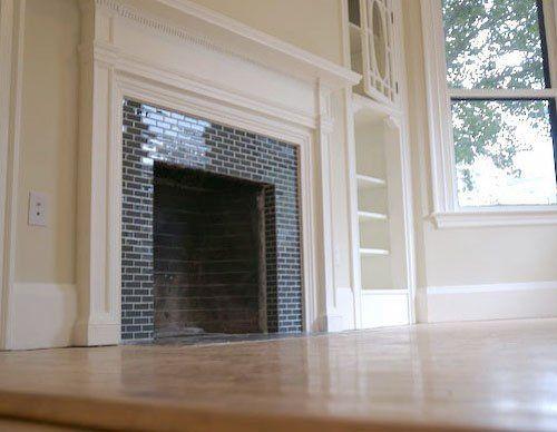 Subway Tile Fireplaces Fireplace Tiles Subway Tile