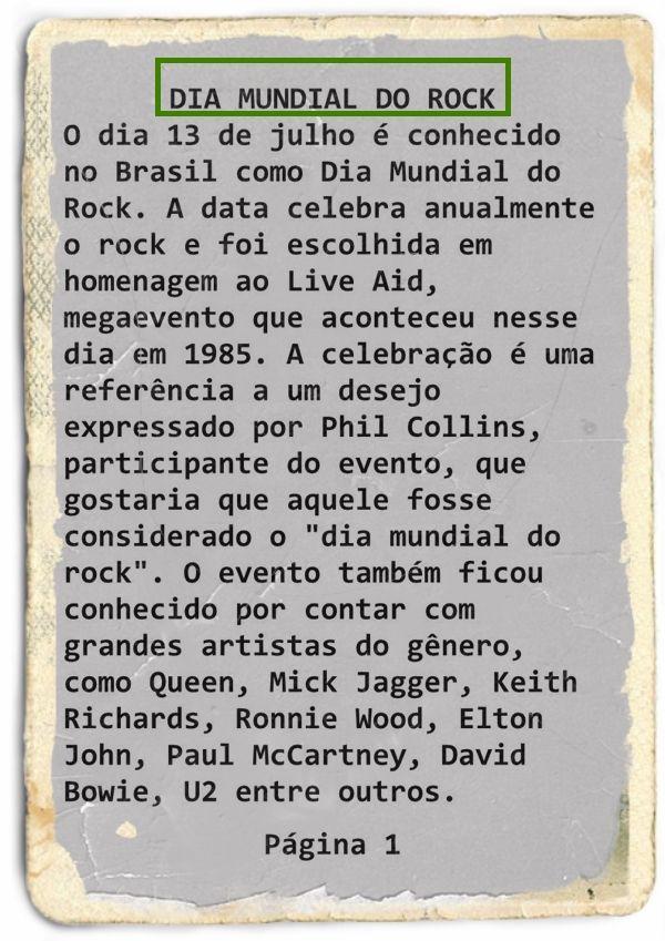 BIOGRAFIAS E COISAS .COM: A HISTORIA DO DIA MUNDIAL DO ROCK NO BRASIL