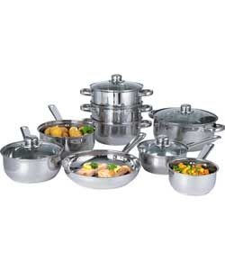 Stainless Steel 9 Piece Pan Set.