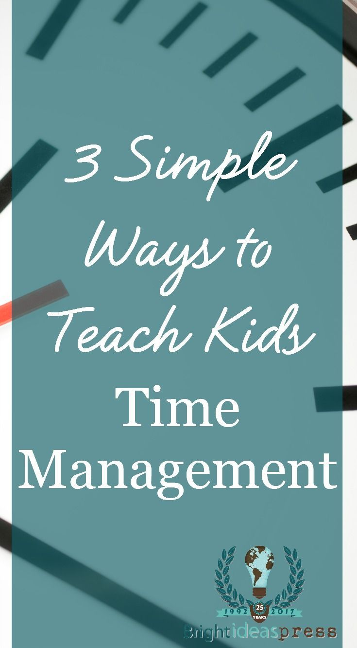 How to teach time management to kids