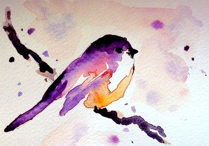 maria kitano watercolour - another bird