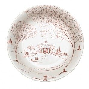 """""""Country Estate"""" ruby medium serving bowl from Juliska is handcrafted stoneware made in Portugal. It has a 1.75 quarts capacity and is oven, dishwasher, microwave, freezer safe.  Please go to youboutiques.com for details. #Juliska#tabletop#holiday#stoneware #Christmas#YOU!Boutiques#handmade."""