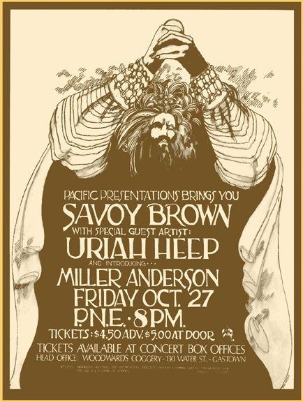Savoy Brown and Uriah Heep poster