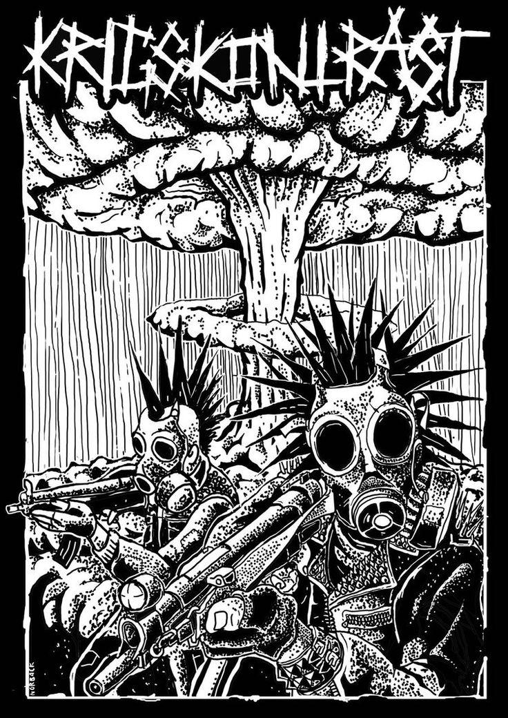 Krigskontrast crust punk from sweden by Norback