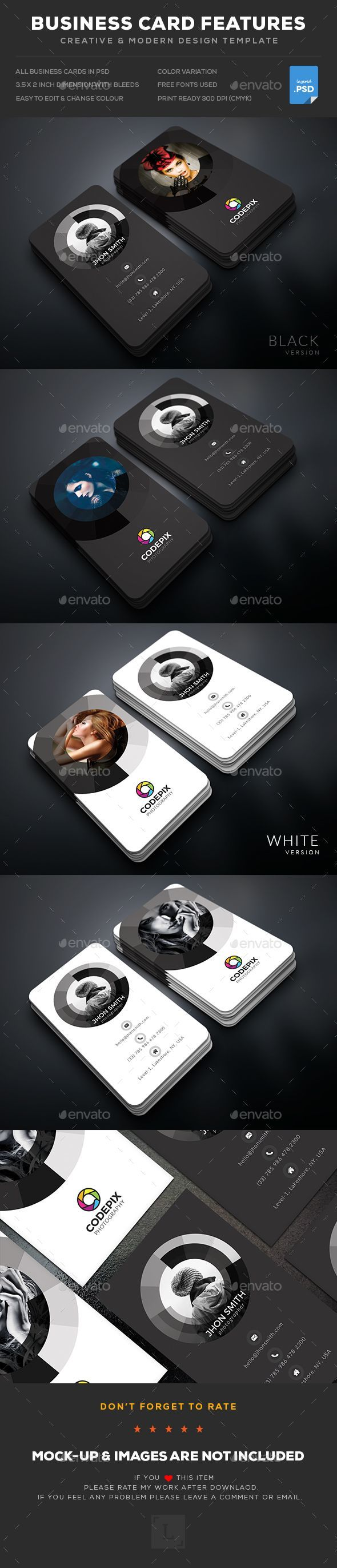 Photography Business Card - #Business #Cards Print Templates Download here: https://graphicriver.net/item/photography-business-card/19377123?ref=alena994
