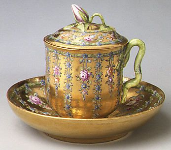 Covered Cup and Saucer  Imperial Porcelain Manufactory, St. Petersburg Date: ca. 1760