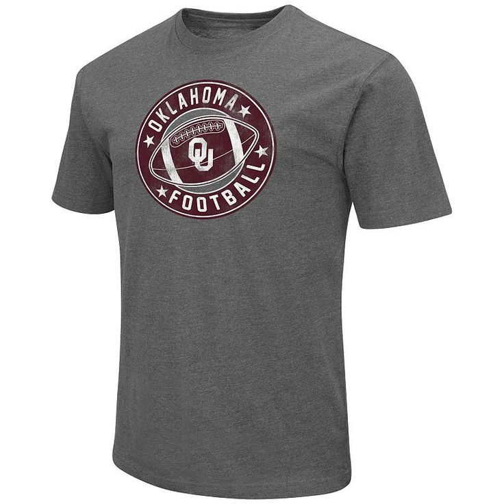 Men's Campus Heritage Oklahoma Sooners Football Tee, Size: Medium, Dark Red