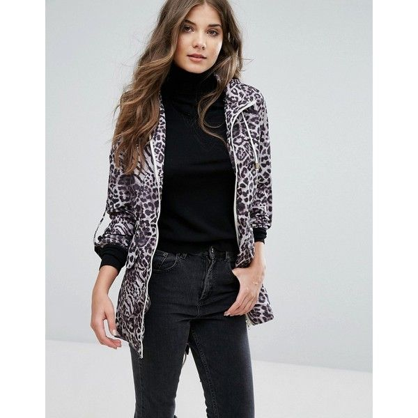 Brave Soul Animal Print Festival Mac ($29) ❤ liked on Polyvore featuring outerwear, coats, grey, tall coats, animal print coat, grey coat, gray coat and lightweight coat