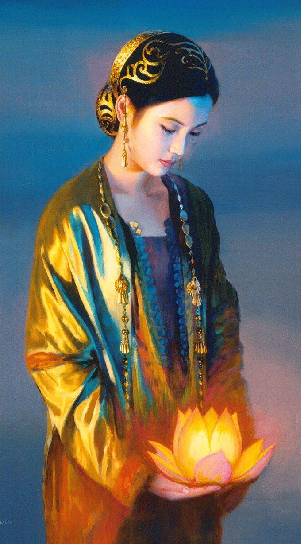 Jia Lu (Chinese: 1954) | Portadora de la Flor de Loto que llama a las hadas…