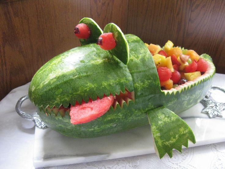 Alligator watermelon for baby showet